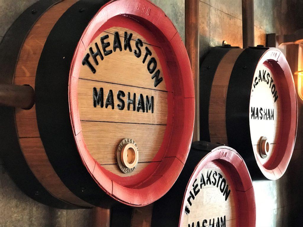 decorative barrel ends at the Bay Horse pub in Masham