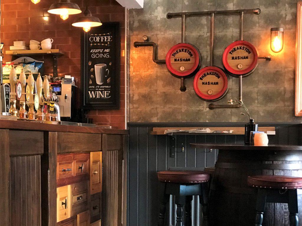 interesting interior at the Bay Horse pub in Masham