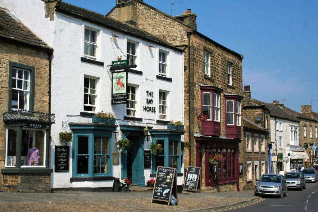 pub frontage at the Bay Horse pub in Masham